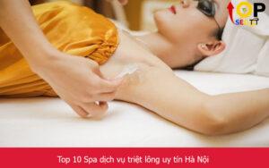 Top 10 Spa dịch vụ triệt lông uy tín Hà Nội